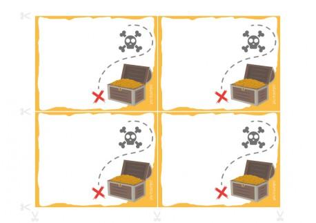 Convites para festas de aniversário a imprimir - O conselho dos piratas
