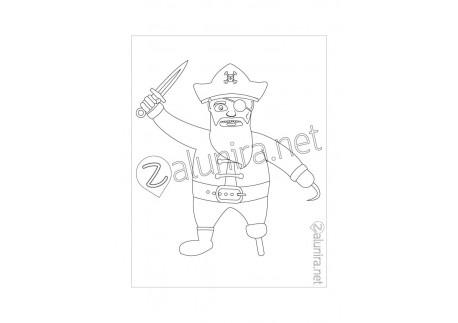 Desenhos de colorir - O conselho dos piratas