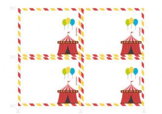Convites para festas de aniversário a imprimir - Roubo no circo